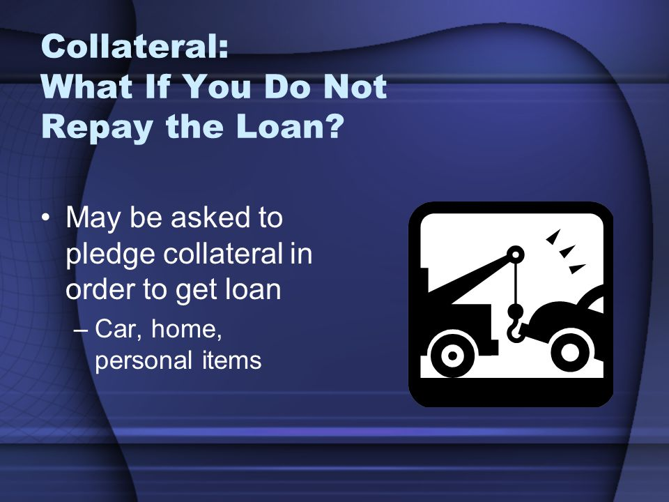 Collateral: What If You Do Not Repay the Loan