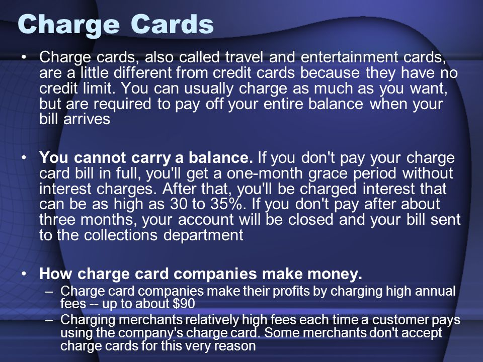 Charge Cards