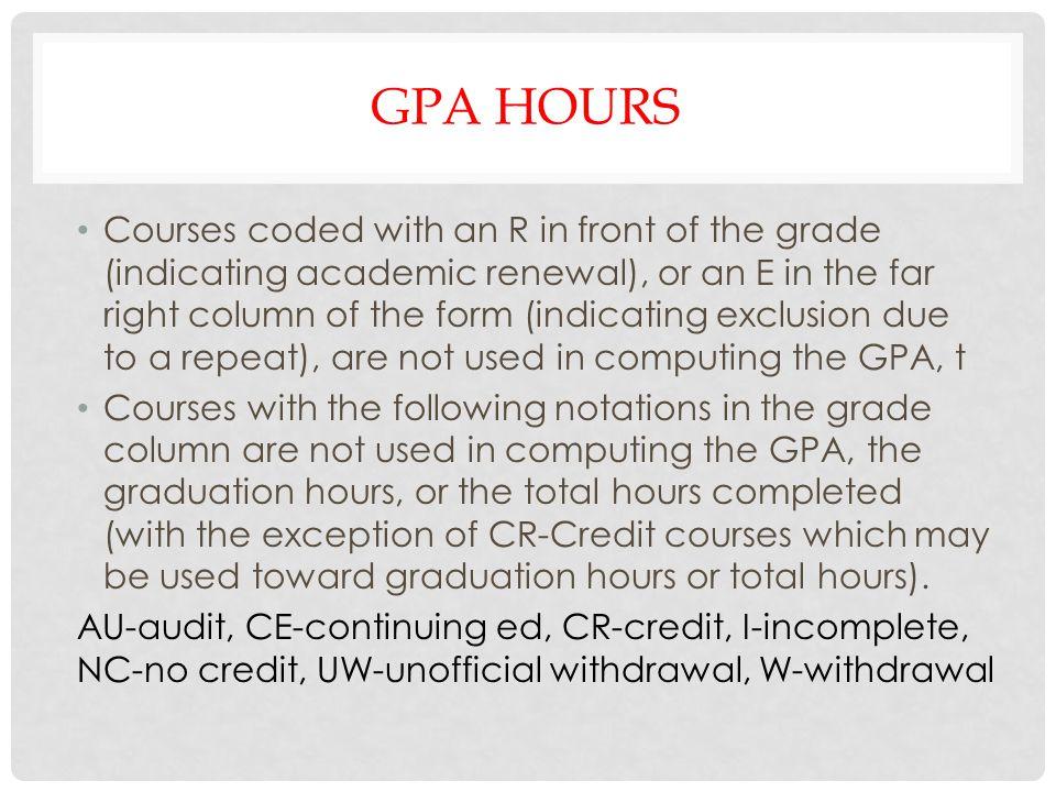 Gpa hours