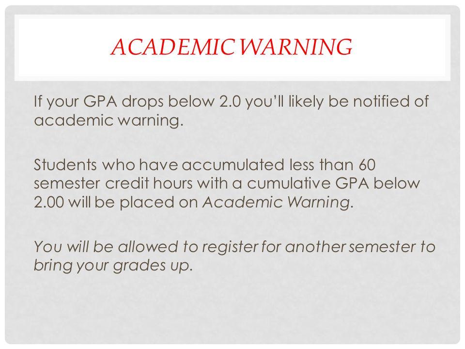 Academic Warning