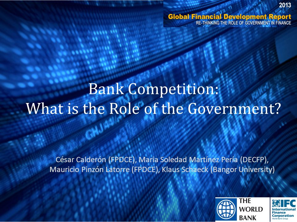 Bank Competition: What is the Role of the Government