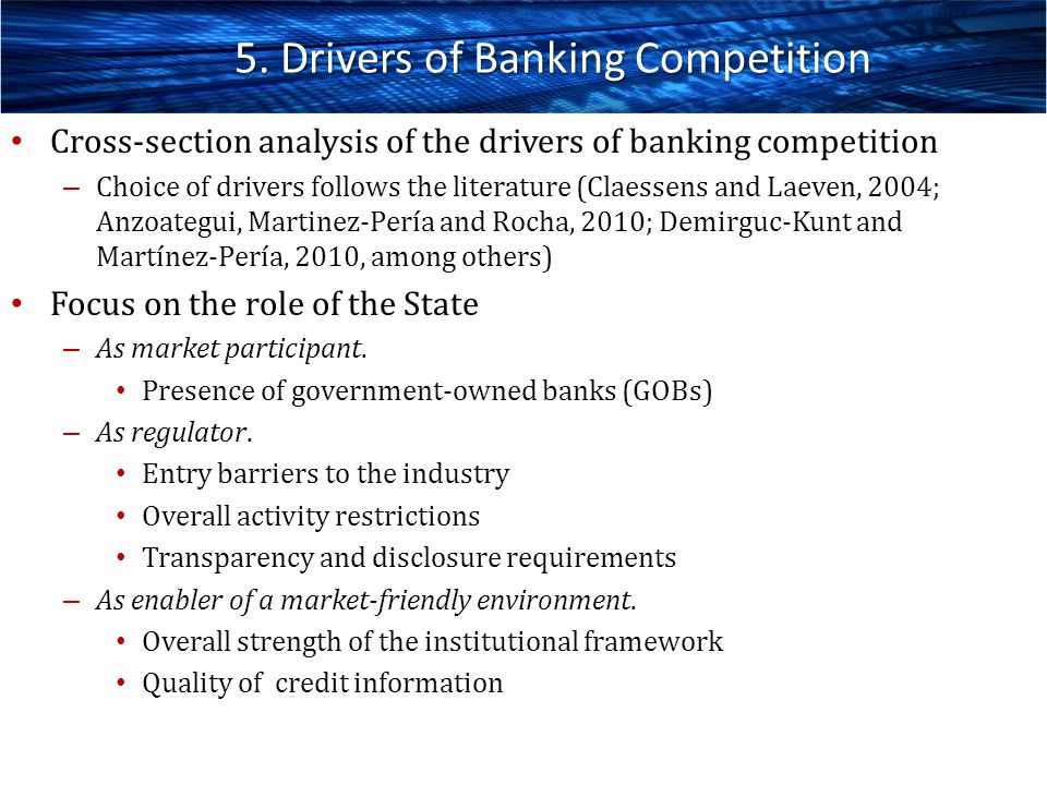 5. Drivers of Banking Competition