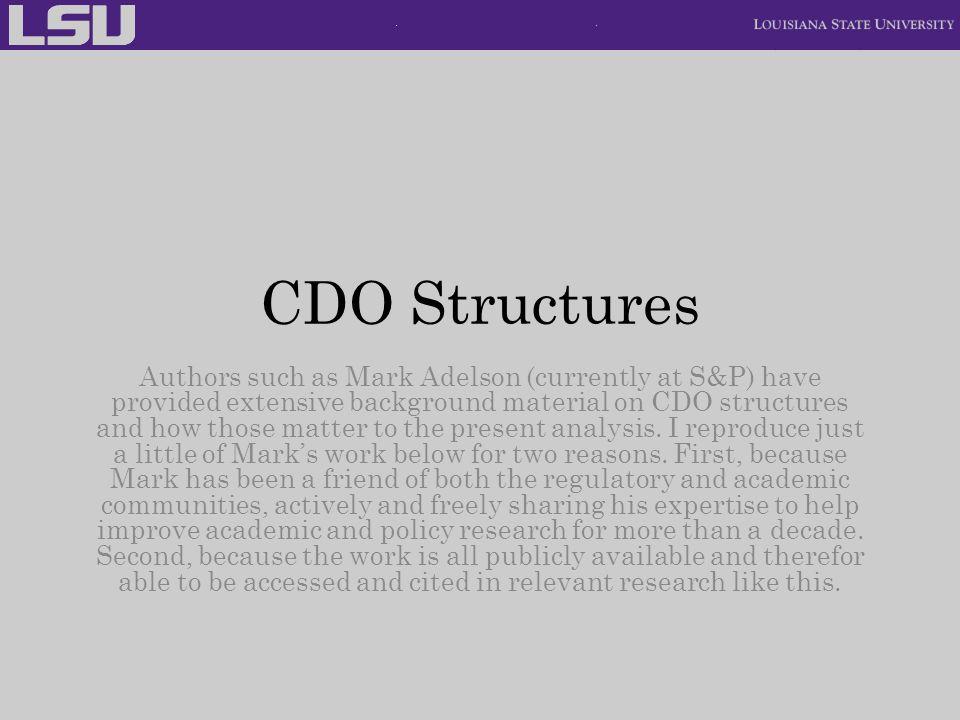 CDO Structures