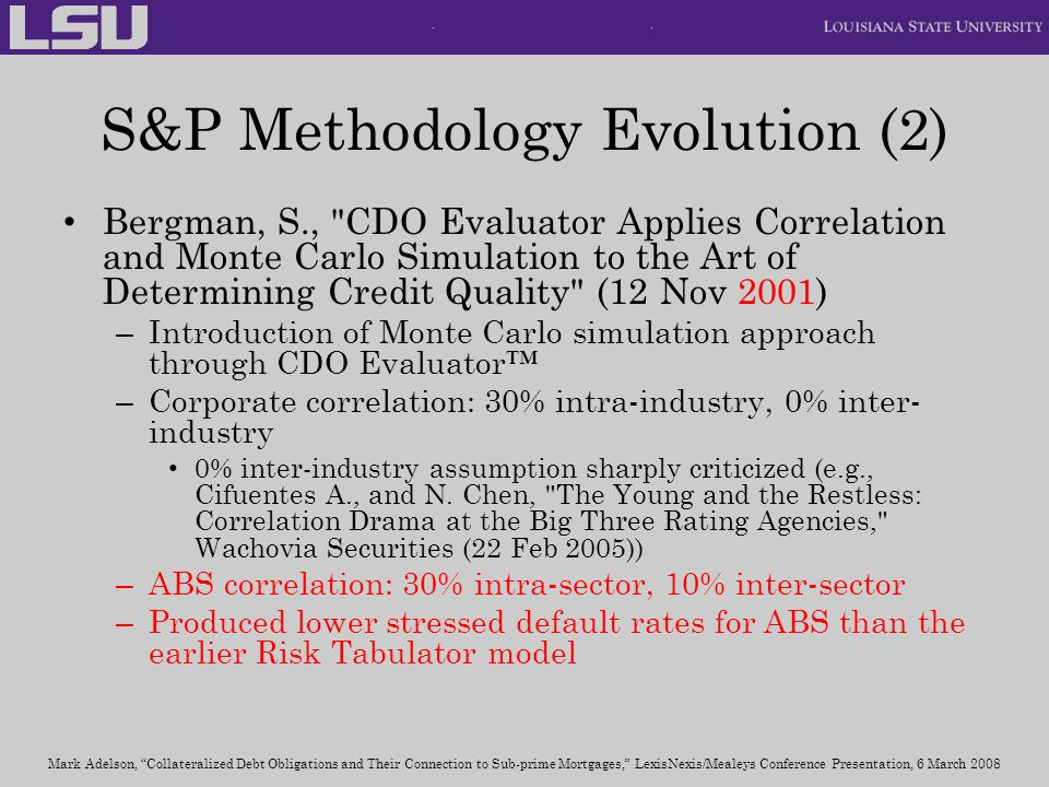 S&P Methodology Evolution (2)