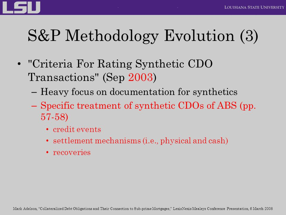 S&P Methodology Evolution (3)
