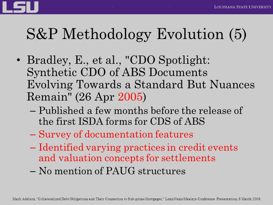 S&P Methodology Evolution (5)