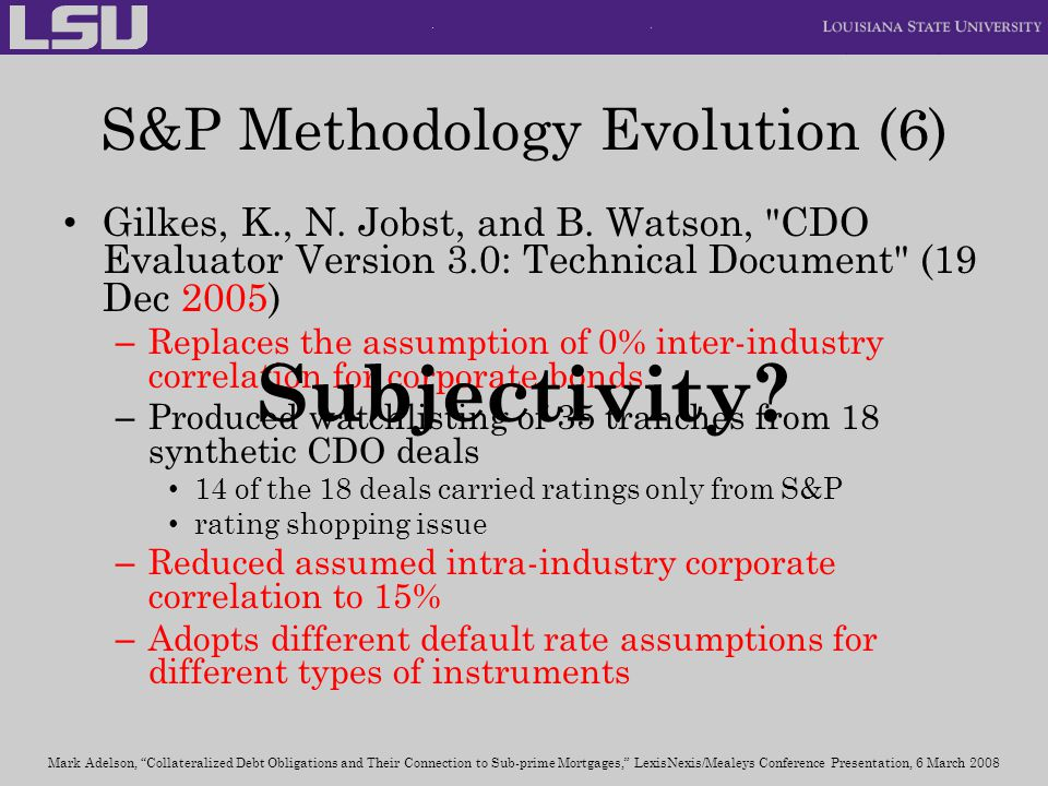S&P Methodology Evolution (6)