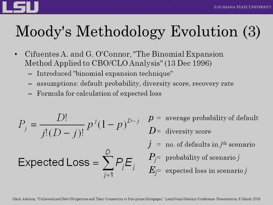 Moody s Methodology Evolution (3)
