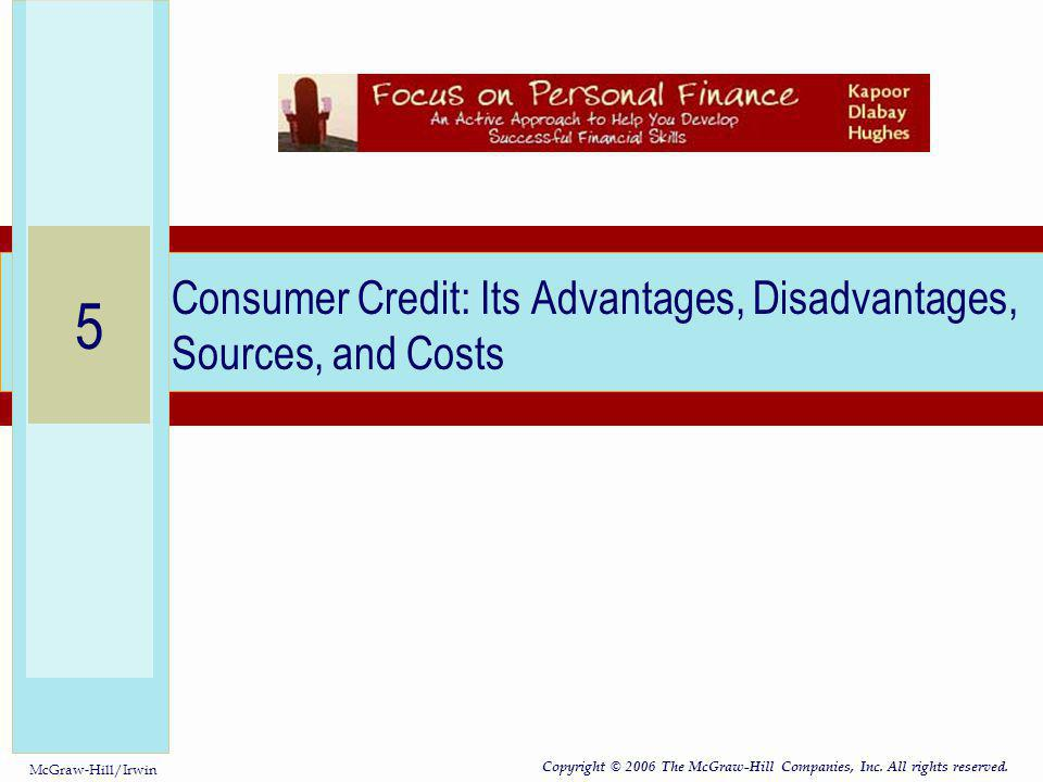 Consumer Credit: Its Advantages, Disadvantages, Sources, and Costs