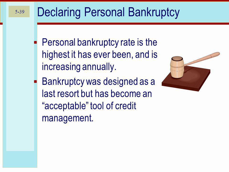 Declaring Personal Bankruptcy