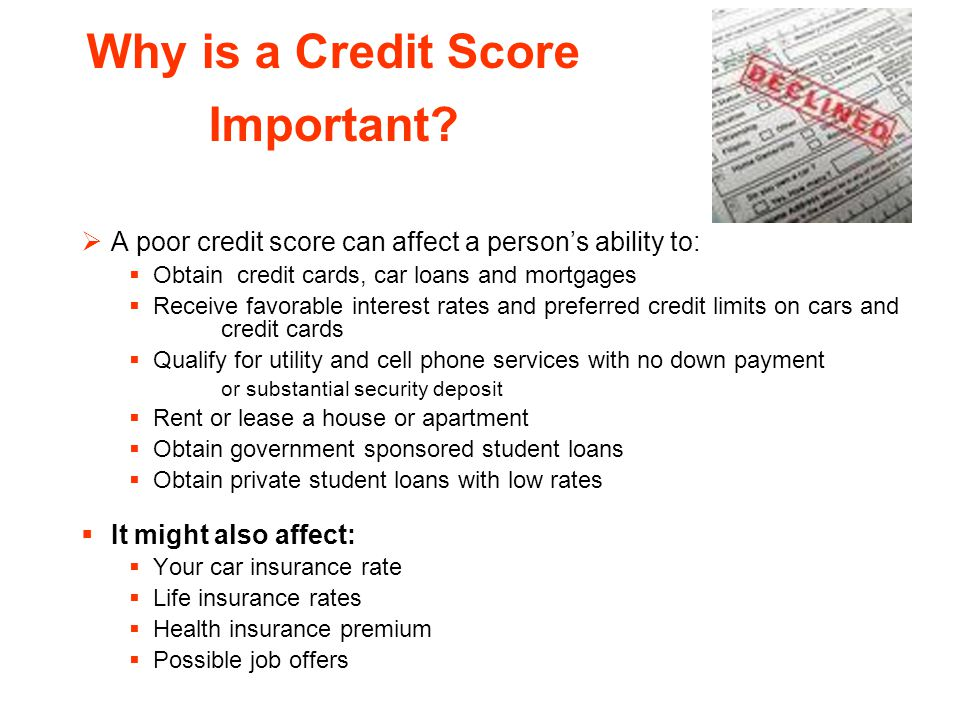 Why is a Credit Score Important