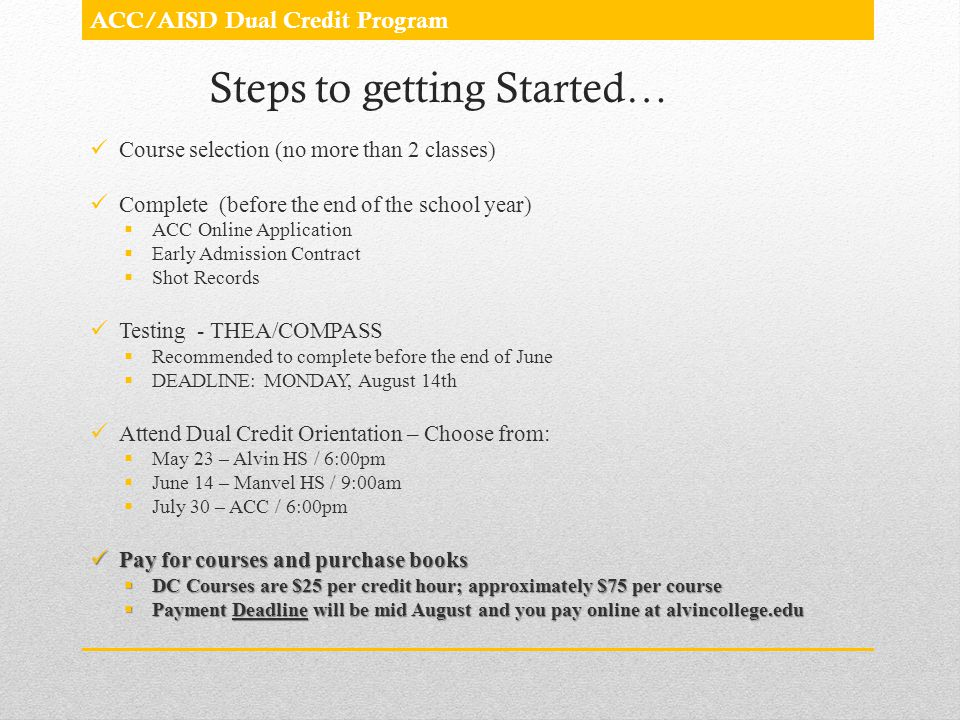 Steps to getting Started…