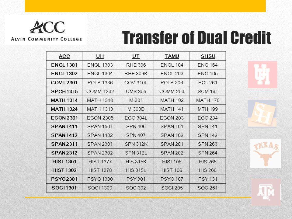 Transfer of Dual Credit