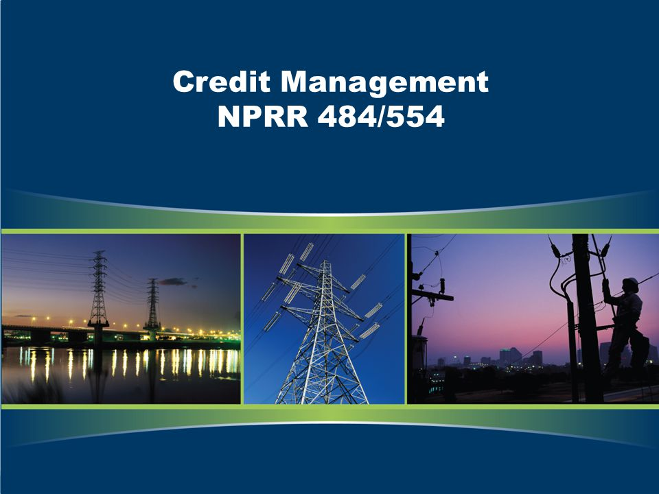 Credit Management NPRR 484/554