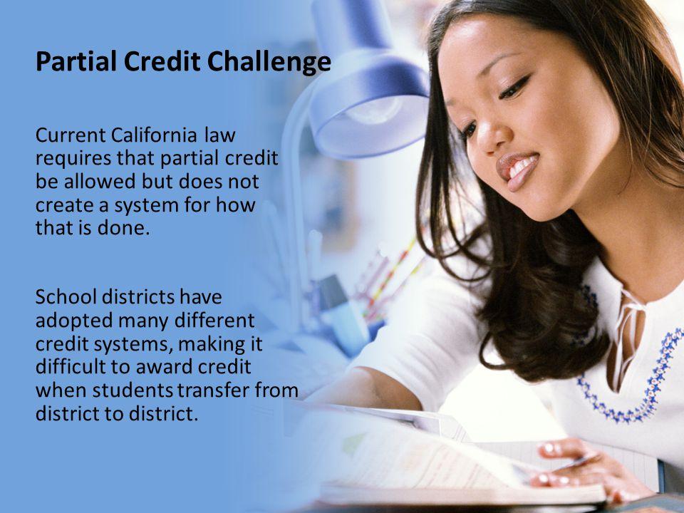 Partial Credit Challenge