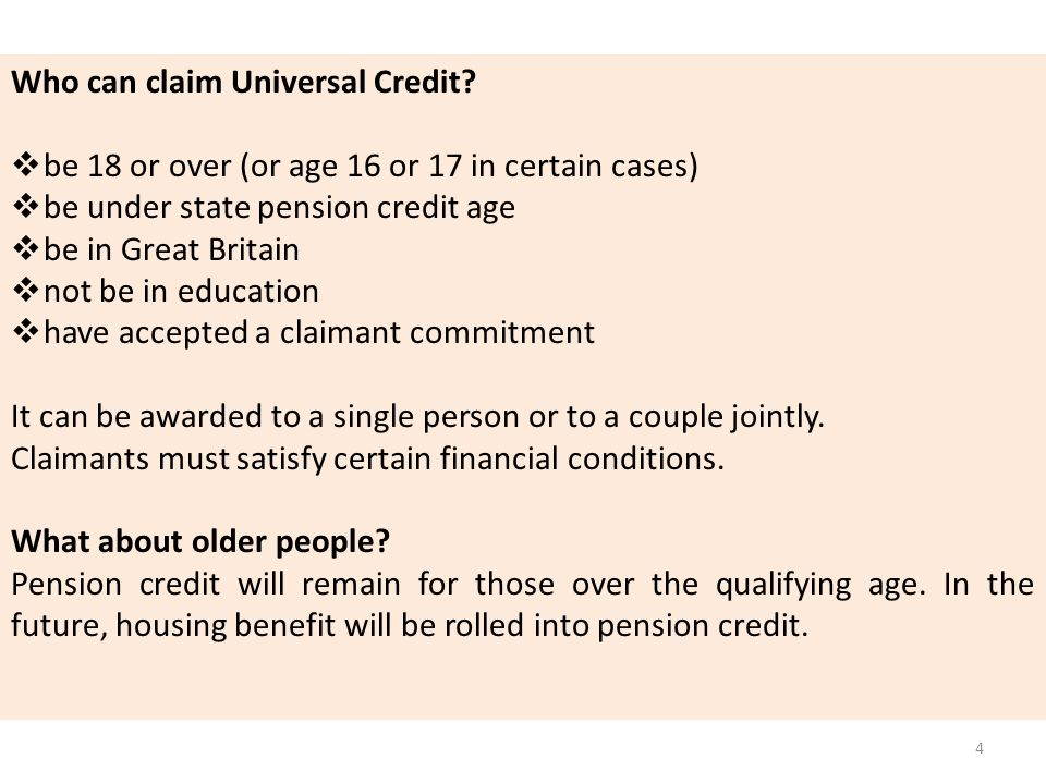 Who can claim Universal Credit