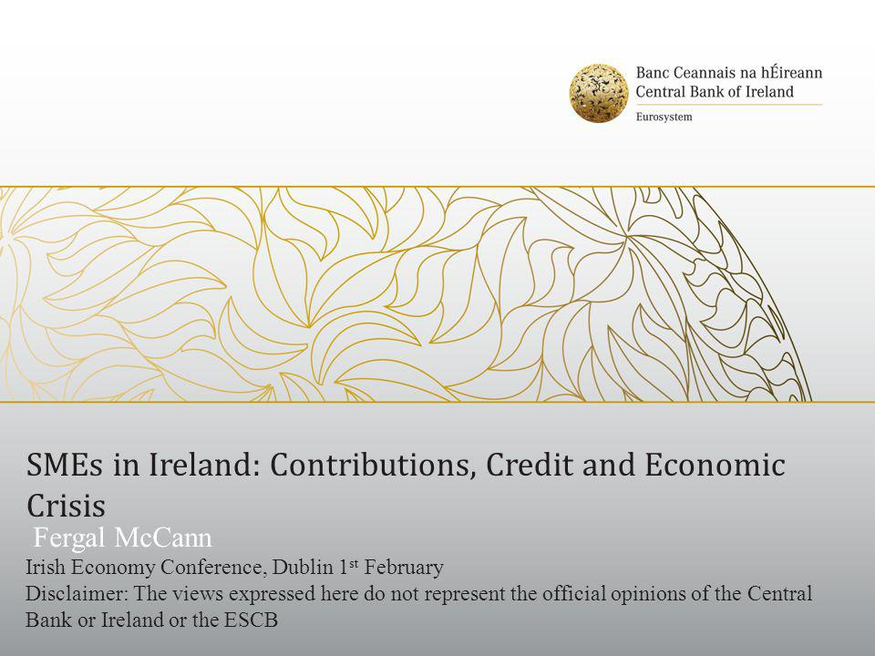 SMEs in Ireland: Contributions, Credit and Economic Crisis