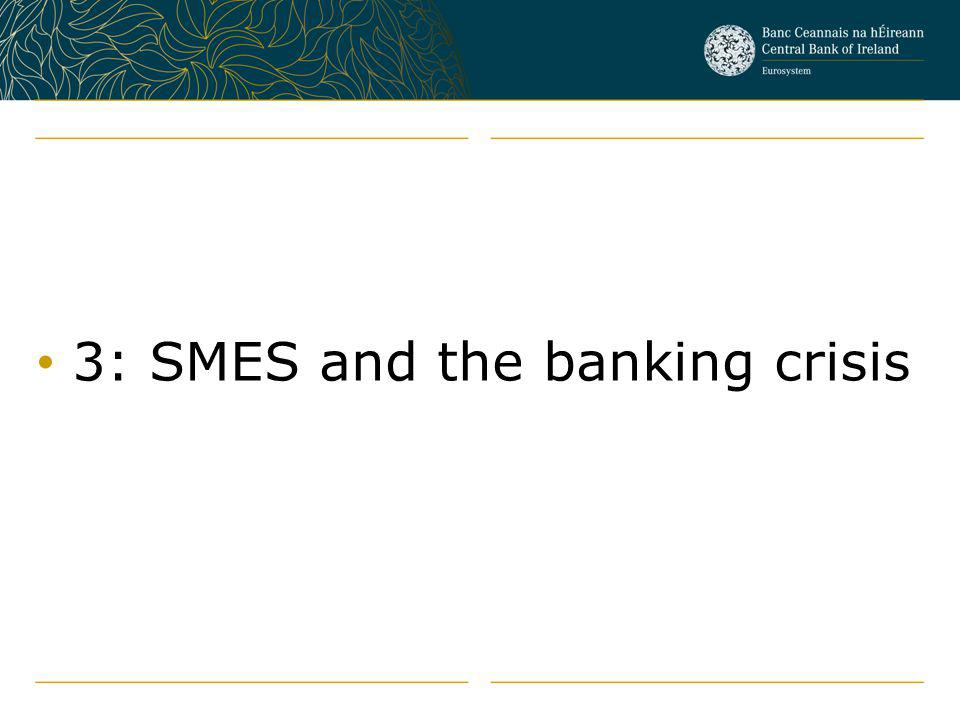 3: SMES and the banking crisis