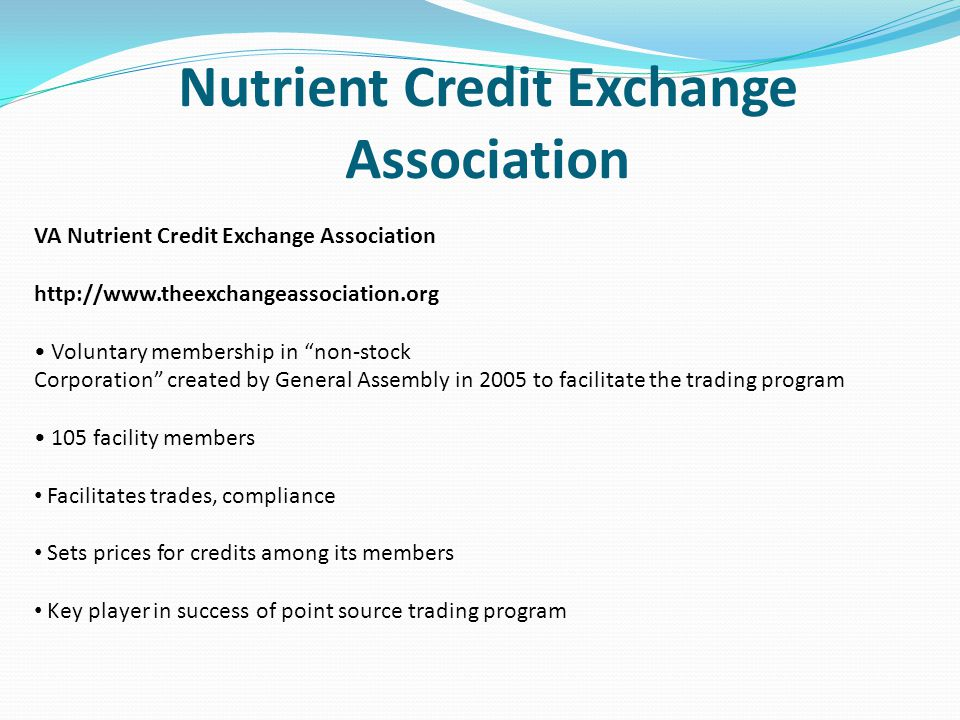 Nutrient Credit Exchange Association