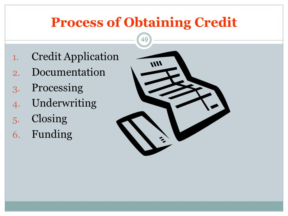 Process of Obtaining Credit