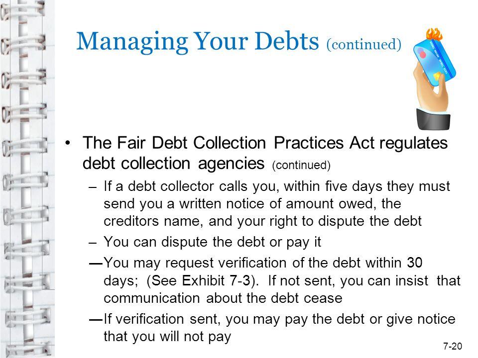 Managing Your Debts (continued)