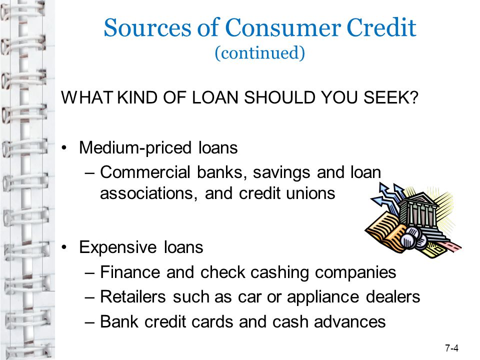 Sources of Consumer Credit (continued)