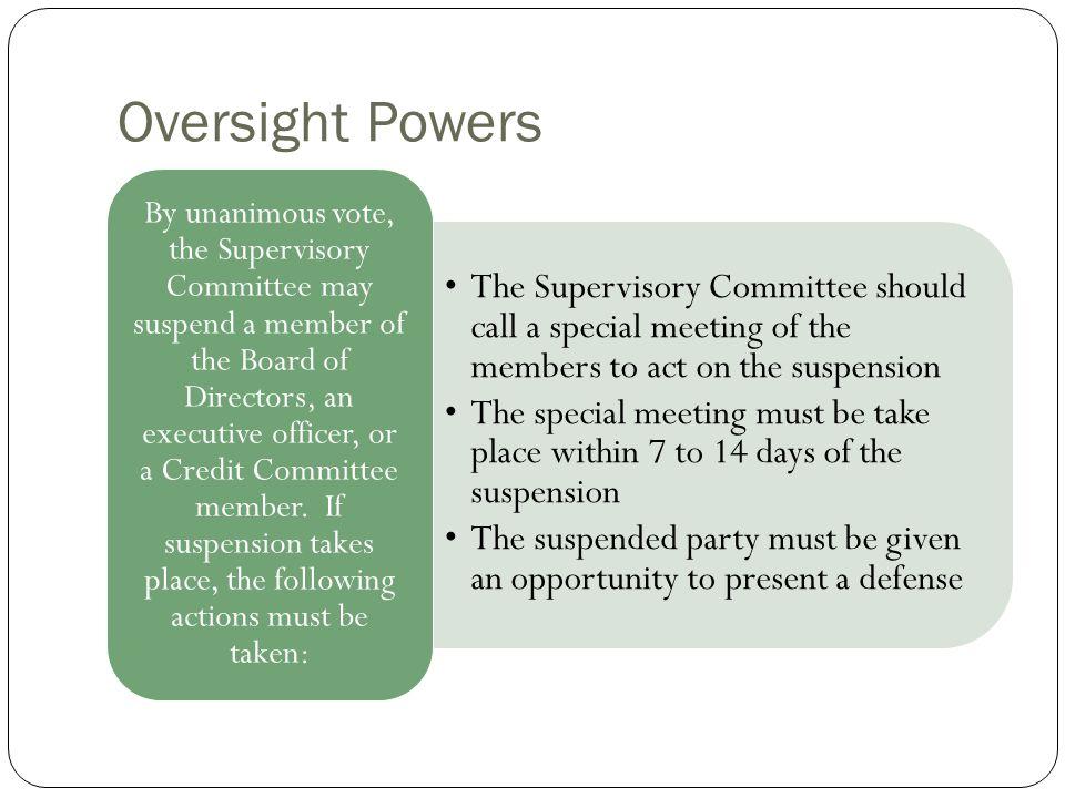 Oversight Powers