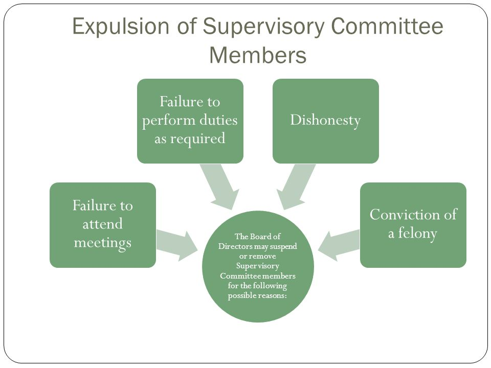 Expulsion of Supervisory Committee Members