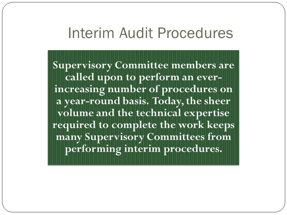 Interim Audit Procedures