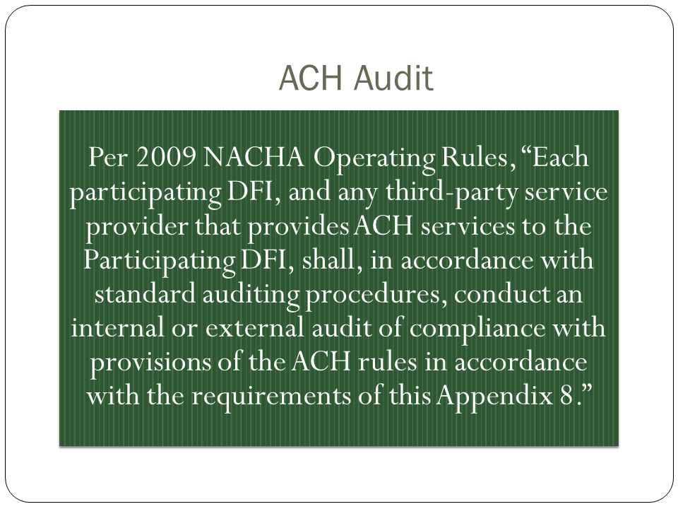 ACH Audit