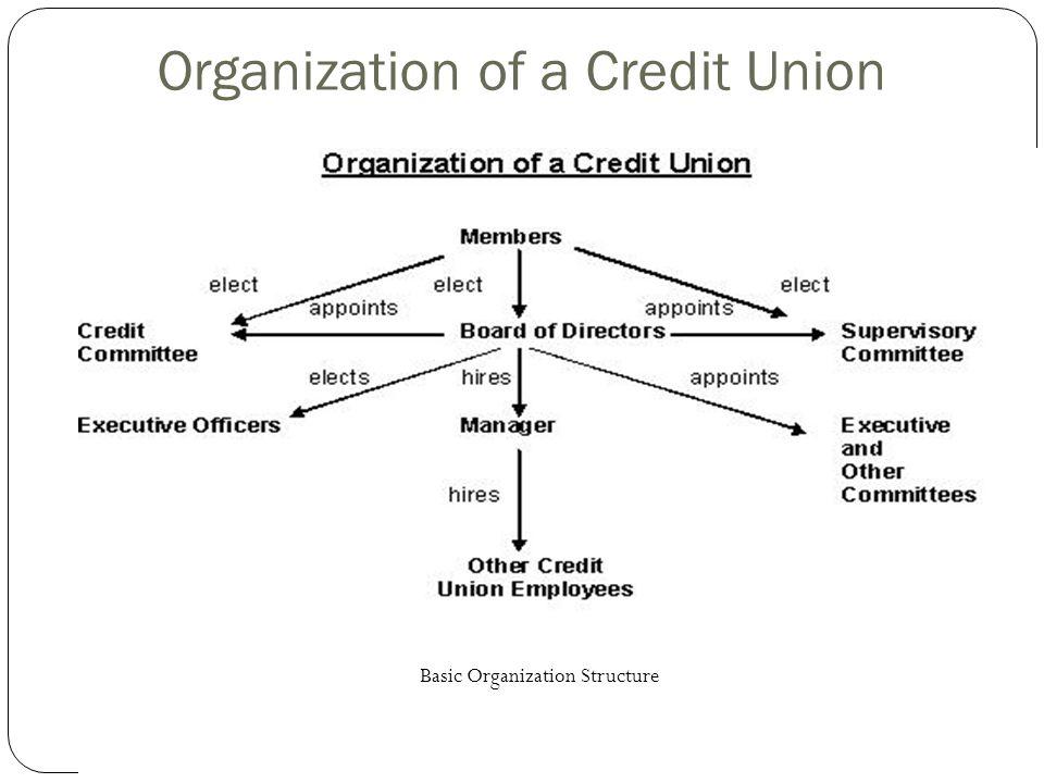 Organization of a Credit Union