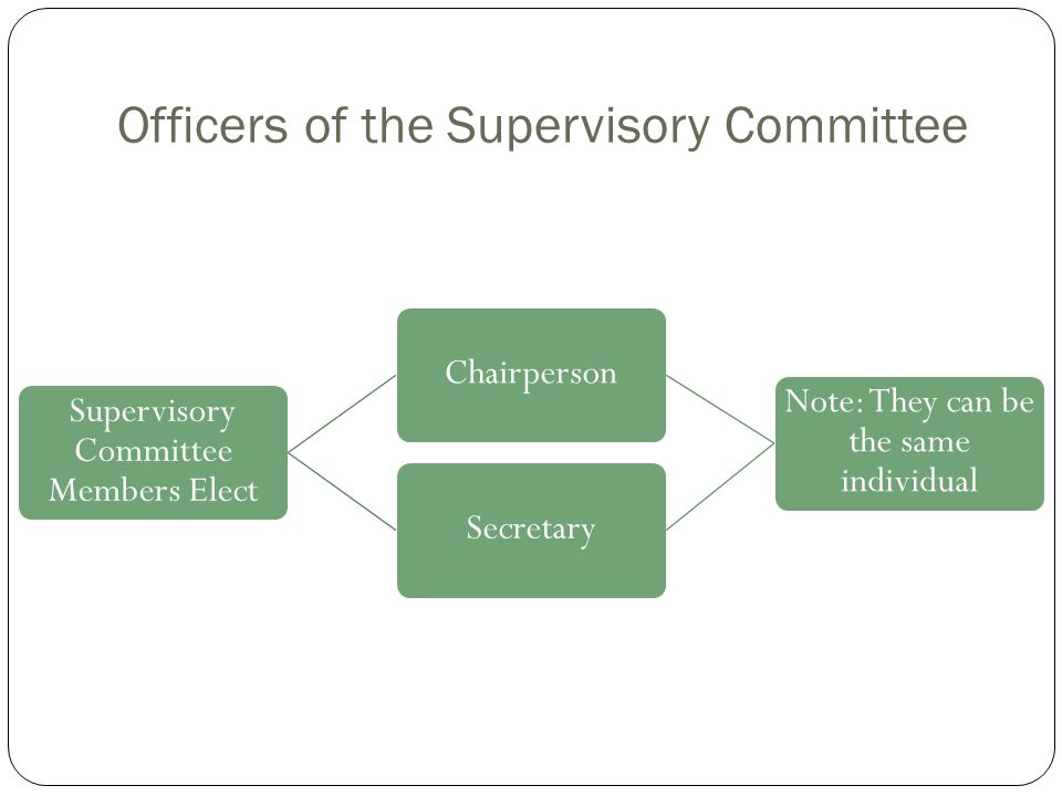 Officers of the Supervisory Committee