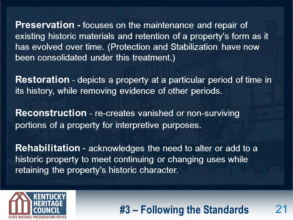 #3 – Following the Standards