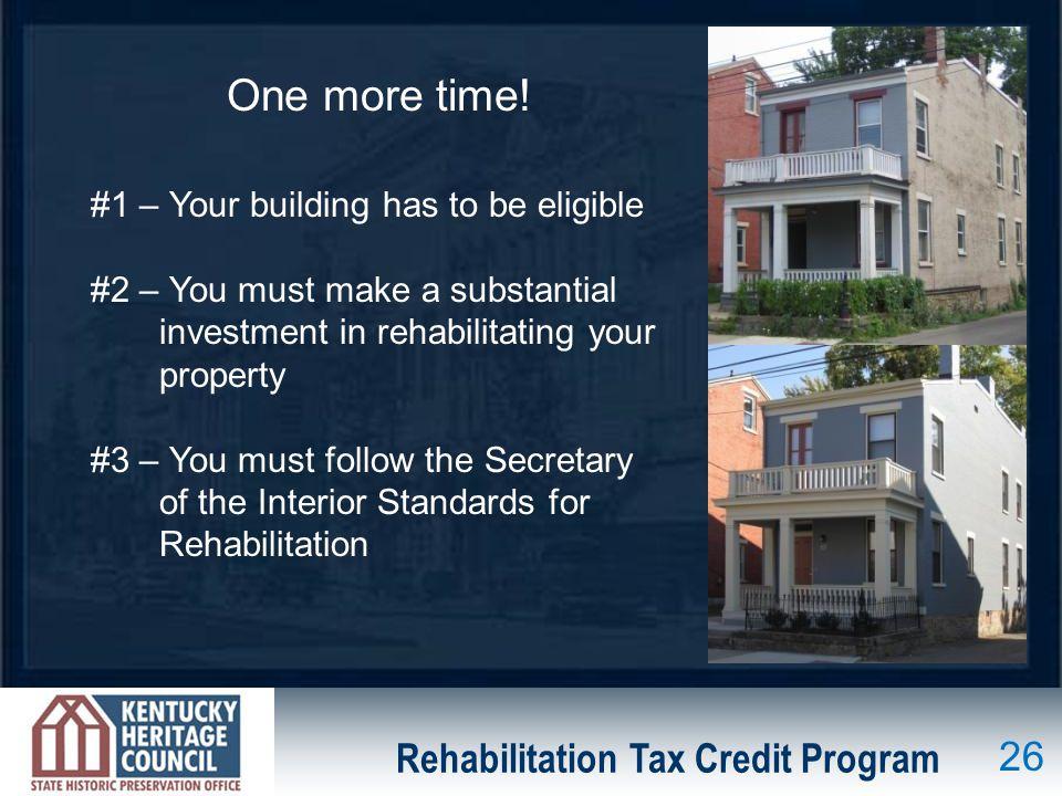 Rehabilitation Tax Credit Program