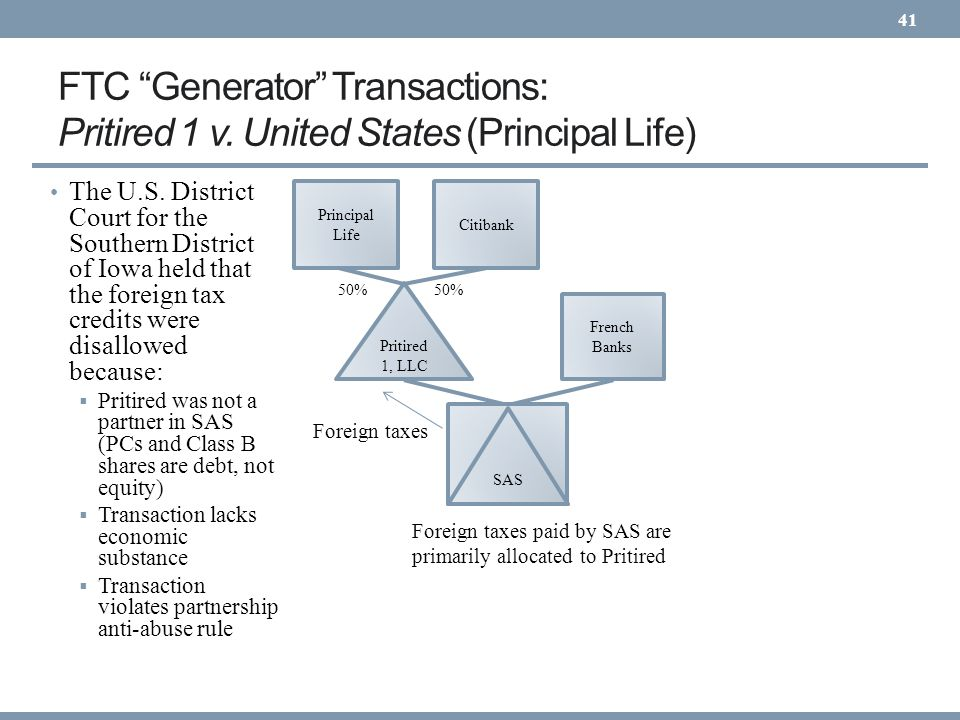 FTC Generator Transactions: Pritired 1 v