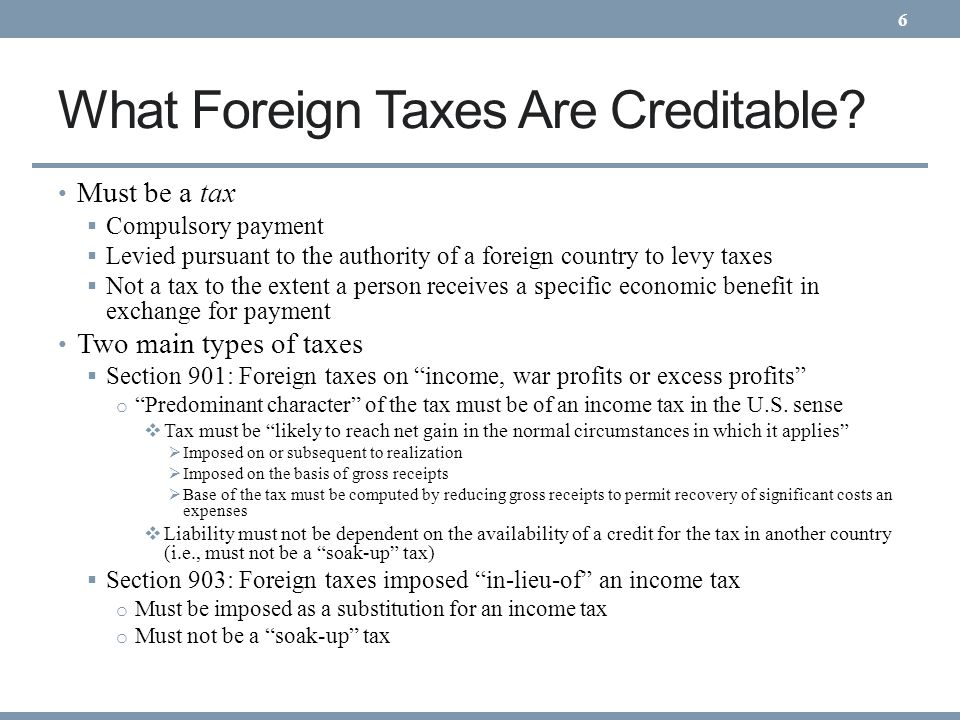 What Foreign Taxes Are Creditable
