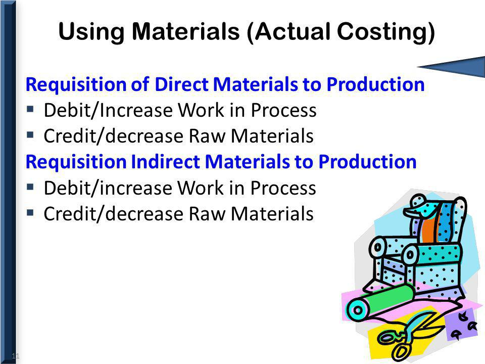 Using Materials (Actual Costing)
