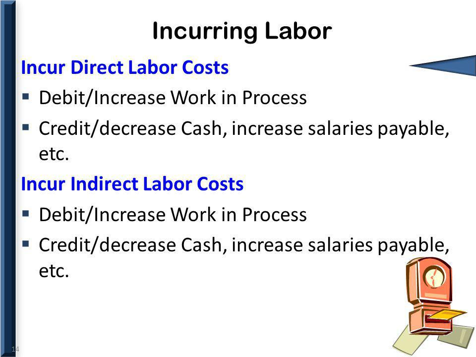 Incurring Labor Incur Direct Labor Costs