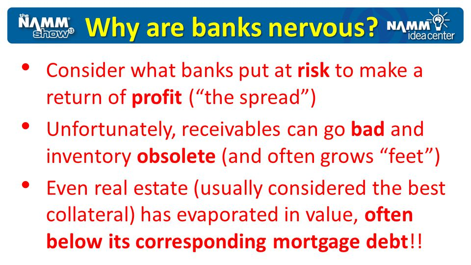 Why are banks nervous Consider what banks put at risk to make a return of profit ( the spread )