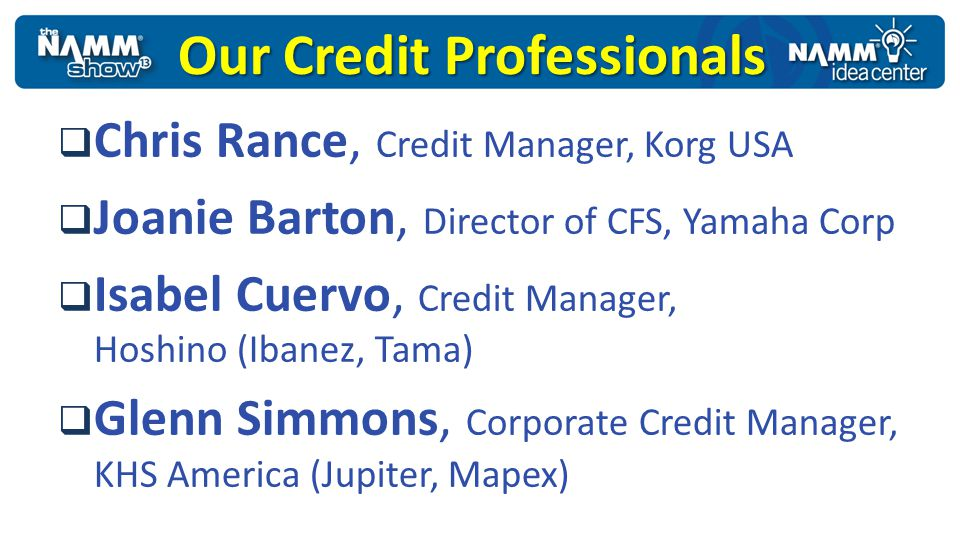 Our Credit Professionals