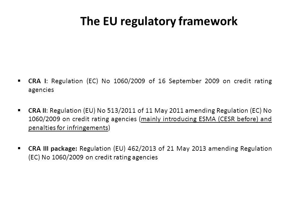 The EU regulatory framework