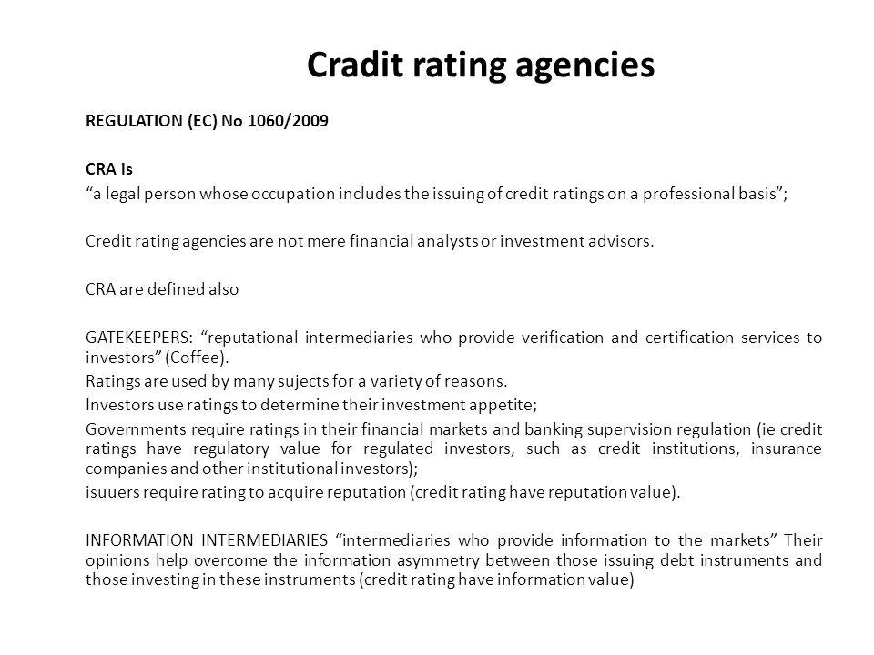 Cradit rating agencies