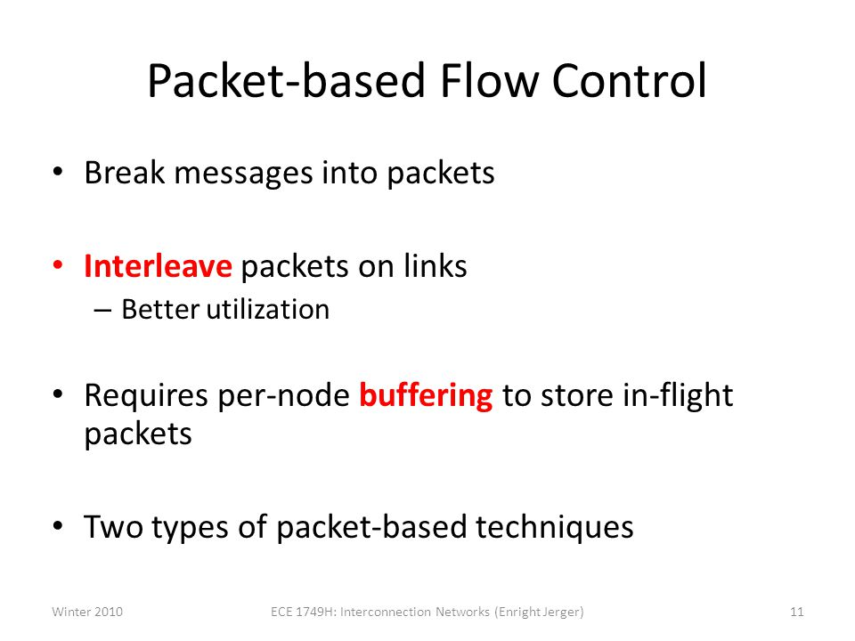 Packet-based Flow Control