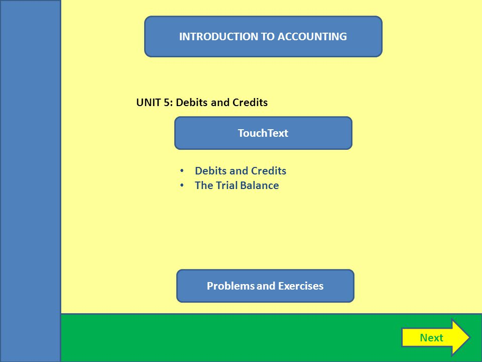 INTRODUCTION TO ACCOUNTING Problems and Exercises