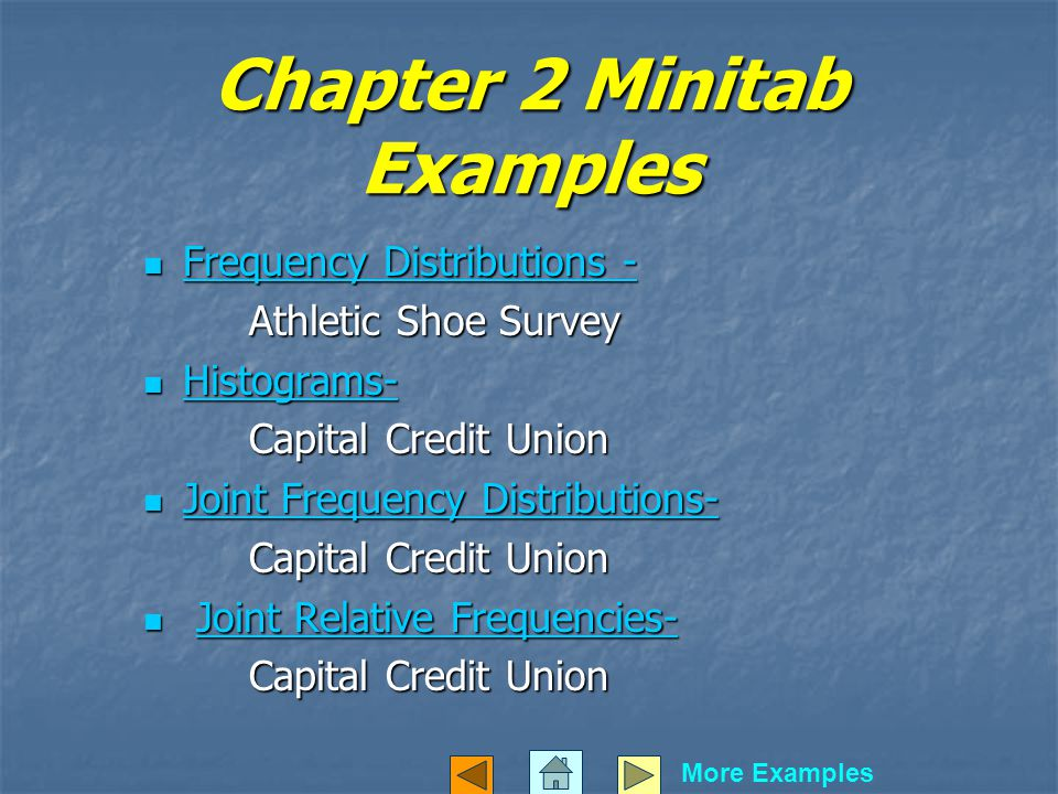 Chapter 2 Minitab Examples