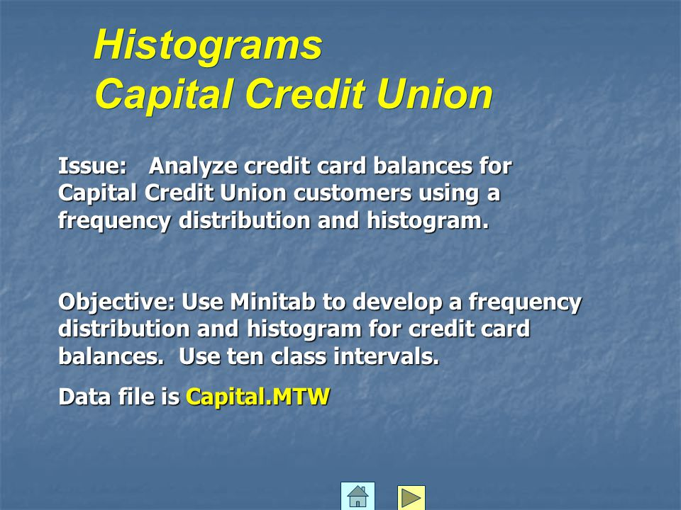 Histograms Capital Credit Union