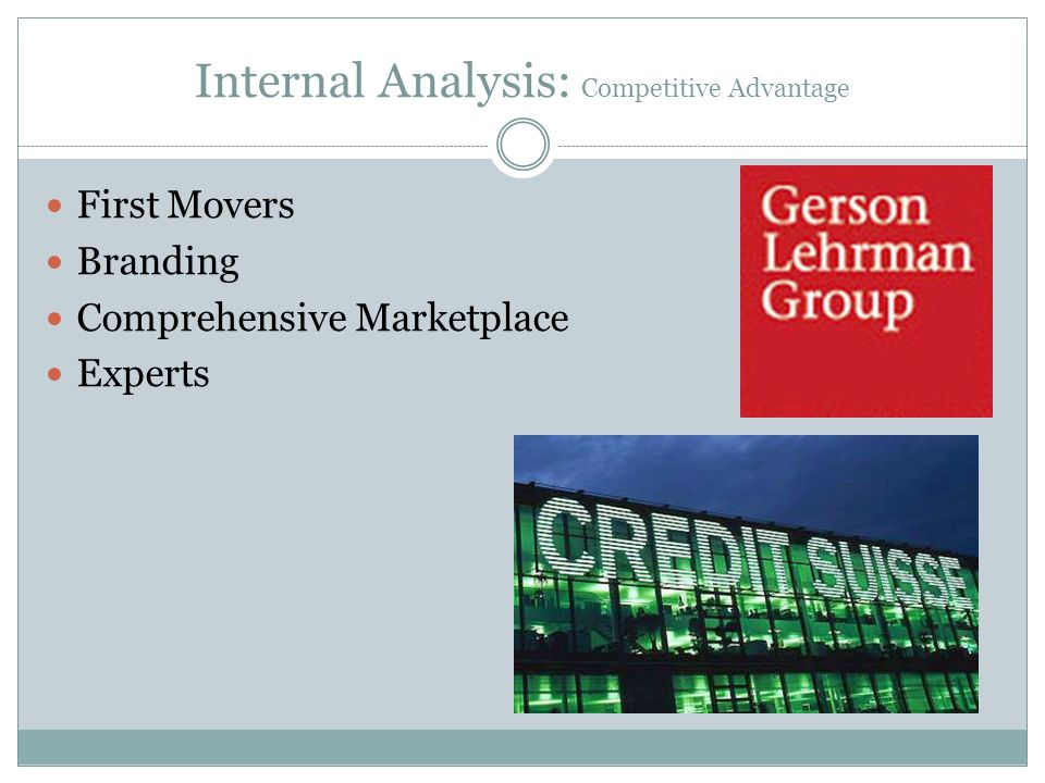 Internal Analysis: Competitive Advantage