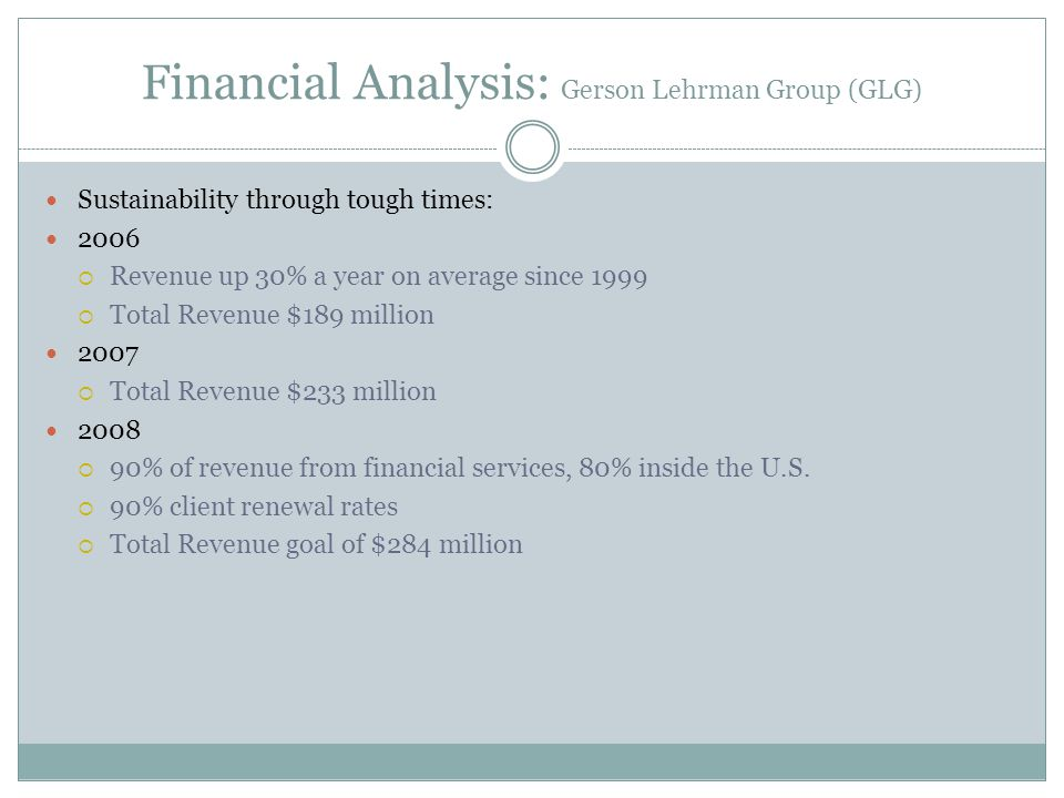 Financial Analysis: Gerson Lehrman Group (GLG)