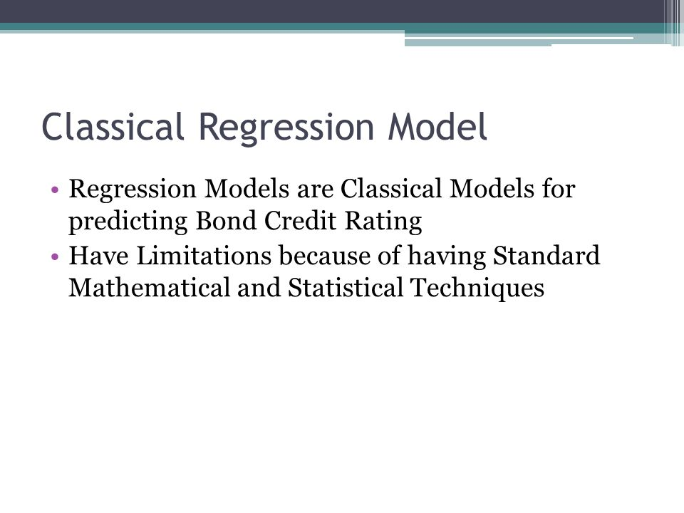 Classical Regression Model