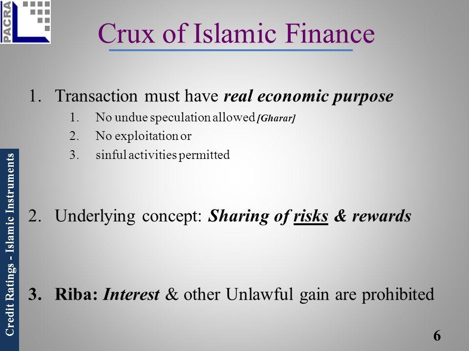 Crux of Islamic Finance